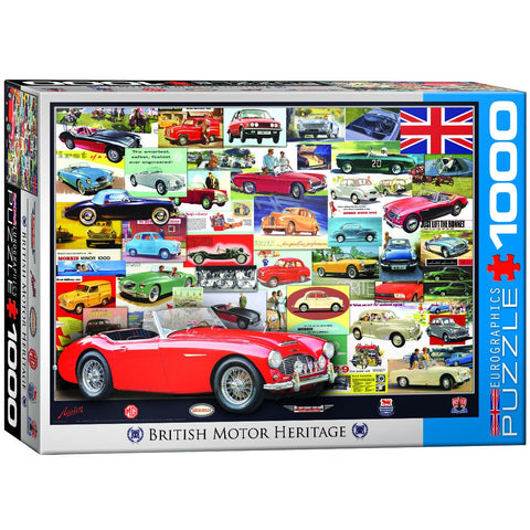 British Motor Heritage - 1000 Piece Jigsaw Puzzle - Games2Puzzles