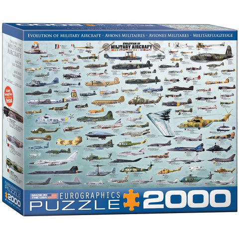 Evolution of Military Aircraft - 2000 Piece Jigsaw Puzzle