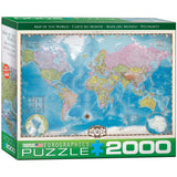 Map of the World - 2000 Piece Jigsaw Puzzle