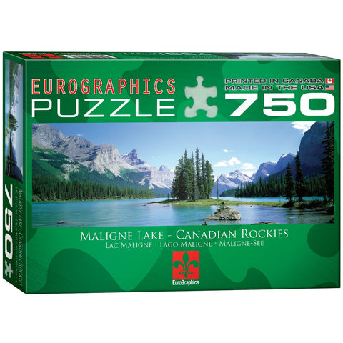 Maligne Lake - Canadian Rockies - 750 Piece Jigsaw Puzzle