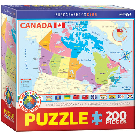 Map of Canada - 200 Piece Jigsaw Puzzle