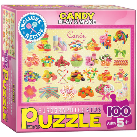 Candy - 100 Piece Jigsaw Puzzle - Games2Puzzles