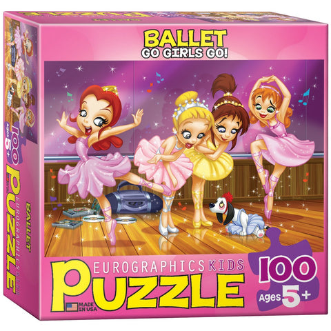 Go Girls Go! - Ballet - 100 Piece Jigsaw Puzzle