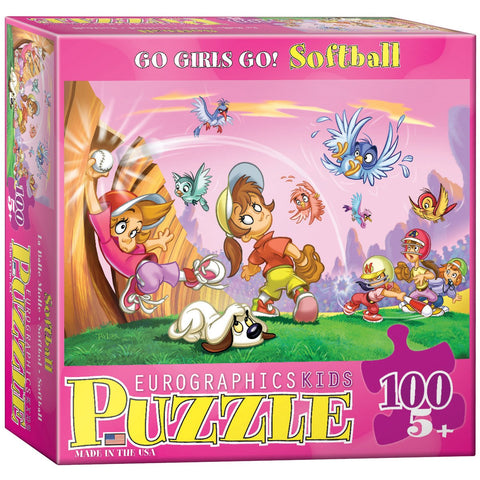 Go Girls Go! - Softball - 100 Piece Jigsaw Puzzle