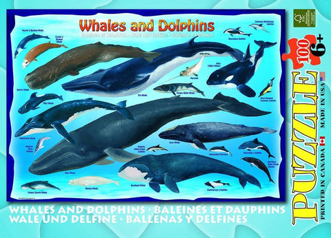 Whales and Dolphins - 100 Piece Jigsaw Puzzle