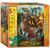 Carnivorous Dinosaurs - 100 Piece Jigsaw Puzzle - Eurographics - Games2Puzzles
