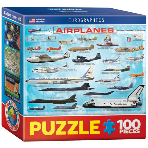 Airplanes - 100 Piece Mini Jigsaw Puzzle