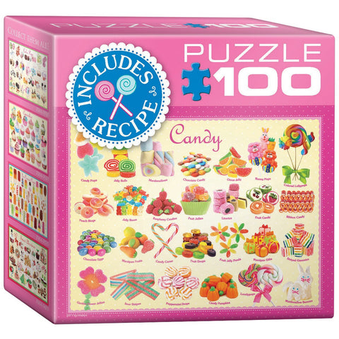 Candy - 100 Piece Mini Jigsaw Puzzle - Games2Puzzles