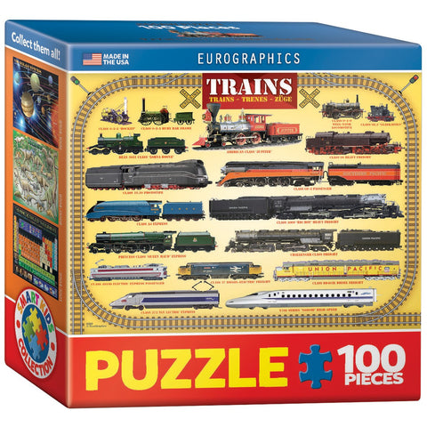 Trains - 100 Piece Mini Jigsaw Puzzle