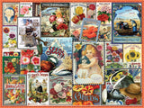 Vintage Flower Seeds - 550 Piece Jigsaw Puzzle