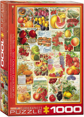 Smithsonian - Fruits Seed Catalogue Collection - 1000 Piece Jigsaw Puzzle
