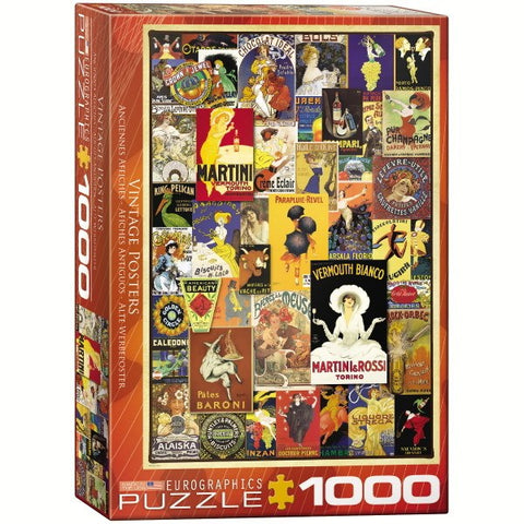 Vintage Posters - 1000 Piece Jigsaw Puzzle