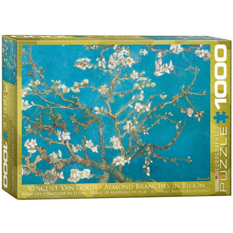 Almond Branches in Bloom - Vincent Van Gogh - 1000 Piece Jigsaw Puzzle - Games2Puzzles