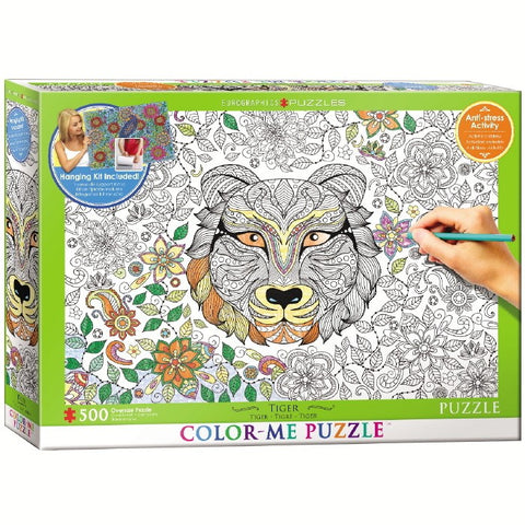 Tiger - 500 Piece Color-Me Jigsaw Puzzle