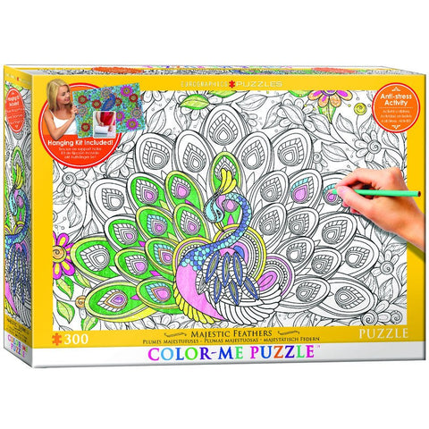 Majestic Feathers - 300 Piece Color-Me Jigsaw Puzzle