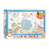 Aquarium - 100 Piece Color-Me Jigsaw Puzzle - Games2Puzzles
