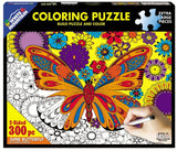 June Butterfly - 300 Piece Coloring Jigsaw Puzzle