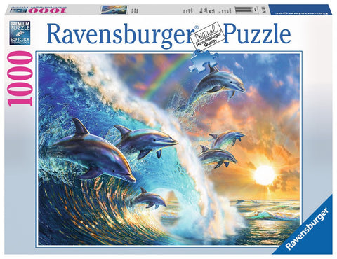Dancing Dolphins - 1000 Piece Jigsaw Puzzle