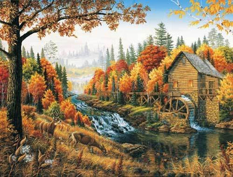 Johnson's Mill - 1000 Piece Jigsaw Puzzle