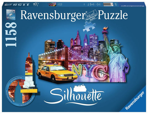 Skyline New York - 1158 Piece Shaped Jigsaw Puzzle