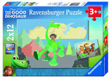 Disney Pixar The Good Dinosaur - Arlo & his Friends - (2 x 12) Piece Jigsaw Puzzles