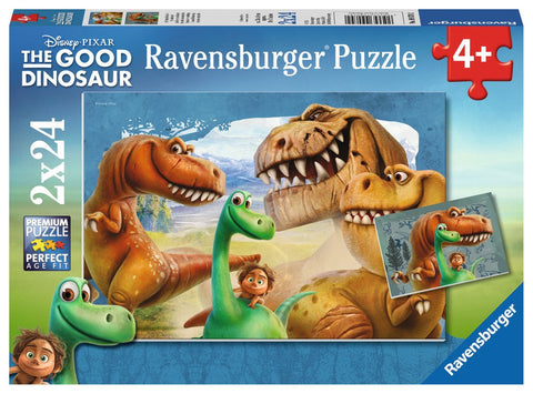 Disney Pixar The Good Dinosaur - Unusual Friendship - (2 x 24) Piece Jigsaw Puzzles