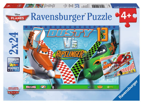 Disney Planes - Dusty the Brave Aviator - (2 x 24) Piece Jigsaw Puzzles