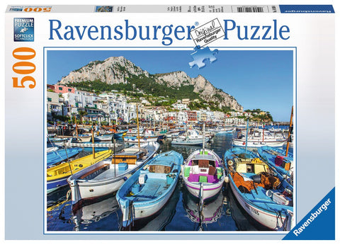 Colorful Marina - 500 Piece Jigsaw Puzzle