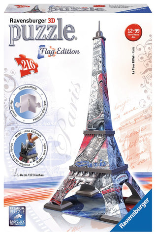 Eiffel Tower - Flag Edition - 216 Piece 3D Jigsaw Puzzle