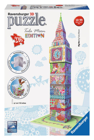 Big Ben - Tula Moon Edition - 216 Piece 3D Jigsaw Puzzle - Games2Puzzles