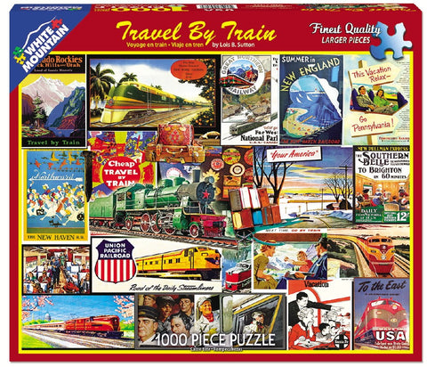 Travel by Train - 1000 Piece Jigsaw Puzzle