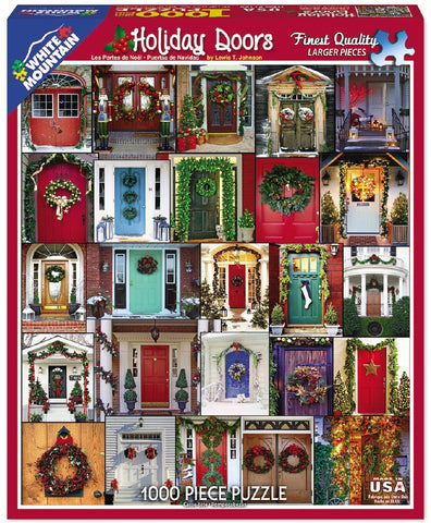Holiday Doors - 1000 Piece Jigsaw Puzzle