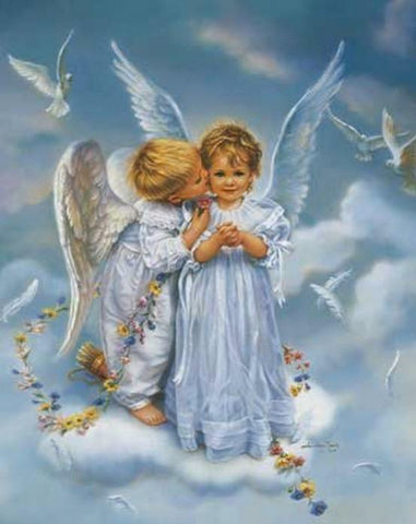 Angel Kisses - 1000 Piece Jigsaw Puzzle - Games2Puzzles