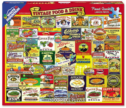 Vintage Food & Drink - 1000 Piece Jigsaw Puzzle