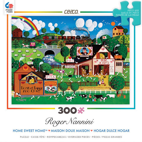 Happy Moo Cows - 300 Oversized Piece Jigsaw Puzzle