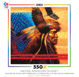 Native American Sunset - Tapestry - 550 Piece Jigsaw Puzzle