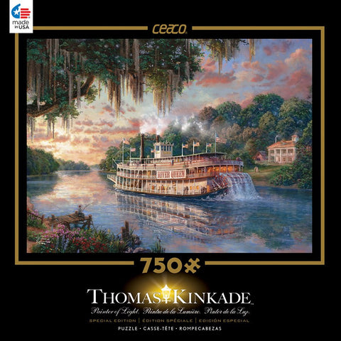 Thomas Kinkade - The River Queen - 750 Piece Jigsaw Puzzle