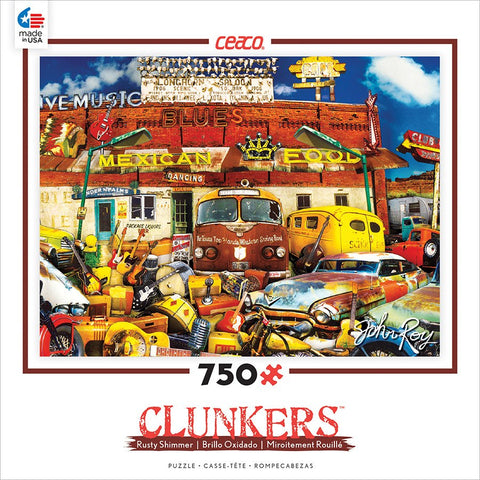 Clunkers - John's Junk Joint - 750 Piece Jigsaw Puzzle