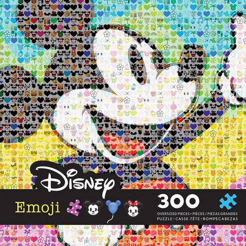 Disney Emoji - Mickey Mouse - 300 Oversized Piece Jigsaw Puzzle