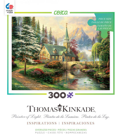 Thomas Kinkade - Dogwood Chapel - 300 Oversized Piece Jigsaw Puzzle