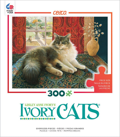 Ivory Cats - Agneatha and the Greek Vase - 300 Oversized Piece Jigsaw Puzzle