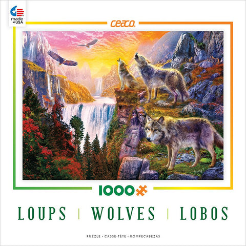Wolves in the Sun - 1000 Piece Jigsaw Puzzle