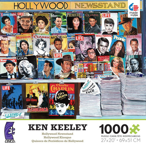 Hollywood Newsstand - 1000 Piece Jigsaw Puzzle
