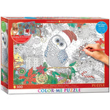 Holly Jolly Owl - 300 Piece Color-Me Jigsaw Puzzle