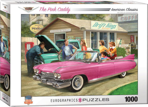 American Classics - The Pink Caddy - 1000 Piece Jigsaw Puzzle