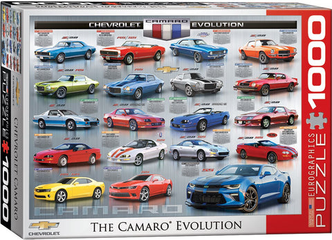 Chevrolet - The Camaro Evolution - 1000 Piece Jigsaw Puzzle
