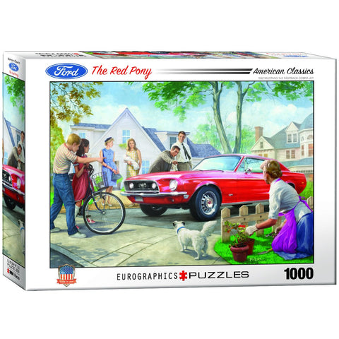 American Classics - Ford the Red Pony - 1000 Piece Jigsaw Puzzle