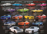 Dodge Charger Challenger Evolution - 1000 Piece Jigsaw Puzzle