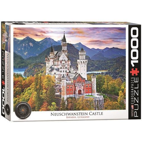Neuschwanstein Castle Bavaria Germany - 1000 Piece Jigsaw Puzzle