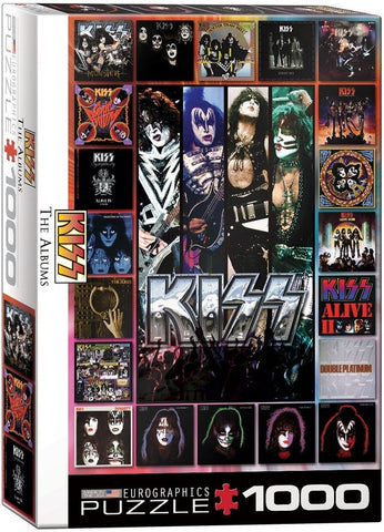 Kiss Rock Band - The Albums - 1000 Piece Jigsaw Puzzle